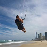 Kiting i Sydney. Foto.
