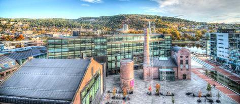 Campus Drammen Høgskolen i Buskerud og Vestfold. Foto.