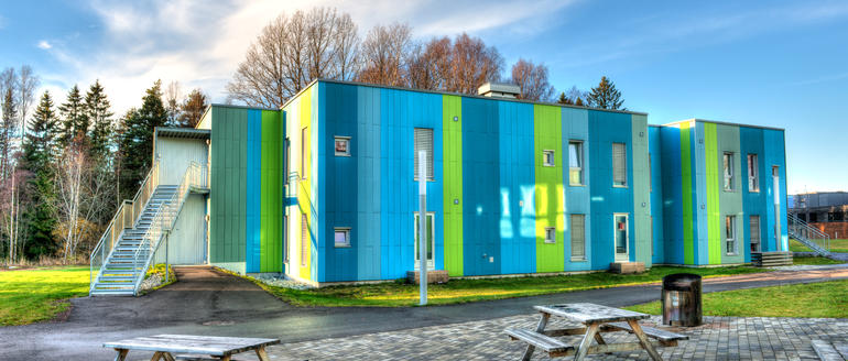 Student housing at Campus Vestfold. Photo.