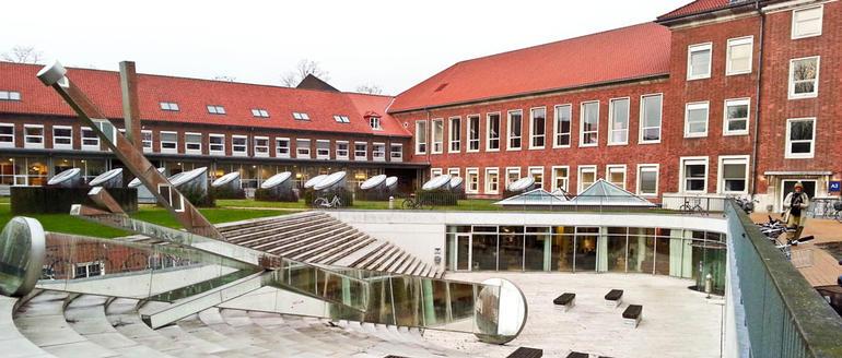 Bilde fra campus på Danmarks Pedagogiske Universitet.