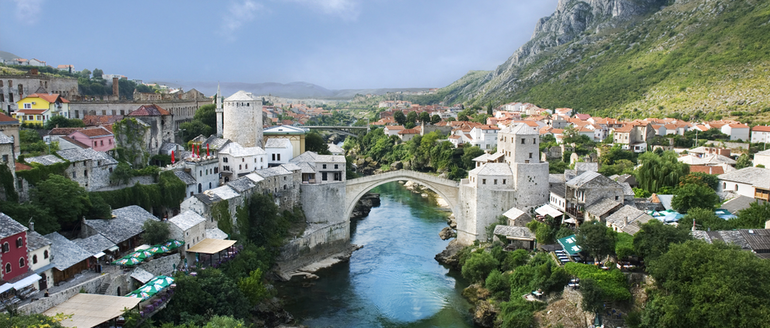 Mostar old town and the bridge Stari Most