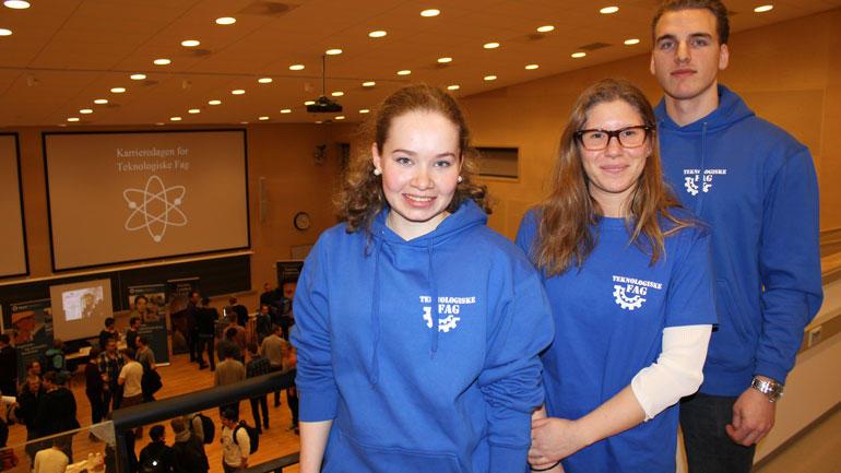 Studenter som arrangerer Karrieredagen i Porsgrunn. Foto