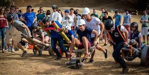 Piperbike-løp i Stanford. Studenter på Høgskolen i Sørøst-Norge har fått erfare hvordan Stanford University driver med innovasjon.  Foto