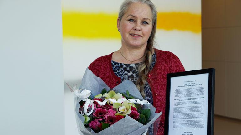 Målfrid J.  Frahm Jensen kjemper for bedring av pasienters rettigheter og ytringsfrihet i psykisk helsevern. foto