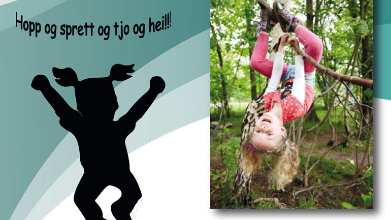 Barn i bevegelse.  Bilde hentet fra prosjektets brosjyre.
