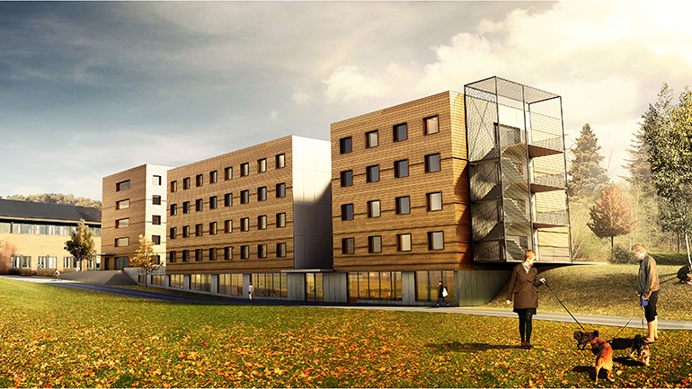 Bygger nye studenthybler på Campus Ringerike