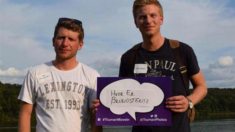 Bilde av to utvekslingsstudenter fra HSN