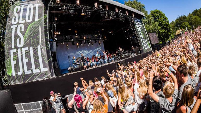 Bilde fra Slottsfjellfestivalen