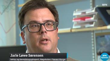 Jarle Løwe Sørensen - skjermdump fra NRK