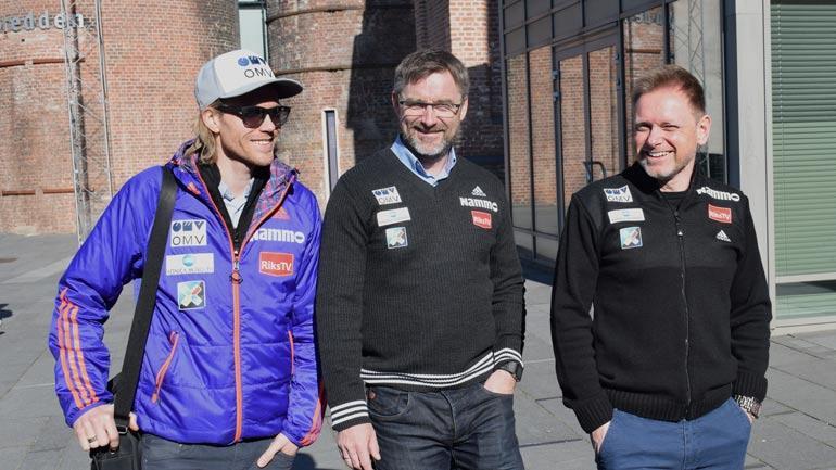 Bjørn Einar Romøren, Clas Brede Bråthen og Kjetil Strandbråten. Foto