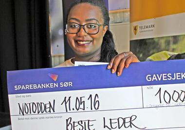 """Sandrina Sandell  vant prisen """"Beste leder""""."""