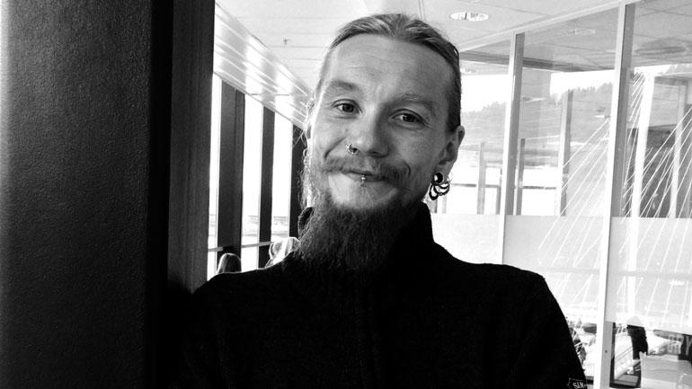 Lærerstudent Erik Fjeldstad. Foto: Camilla Otterlei