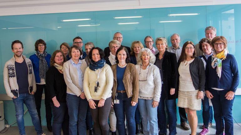 Gruppebilde av deltakerne på seminar om helse- og velferdsteknologi.