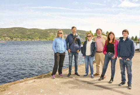 Deltakerne i prosjektet i Svelvik.  Gruppebilde