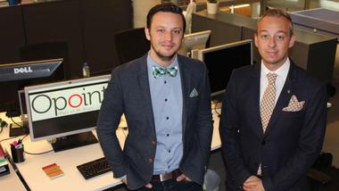 Øystein og Daniel på Opoint-kontoret.