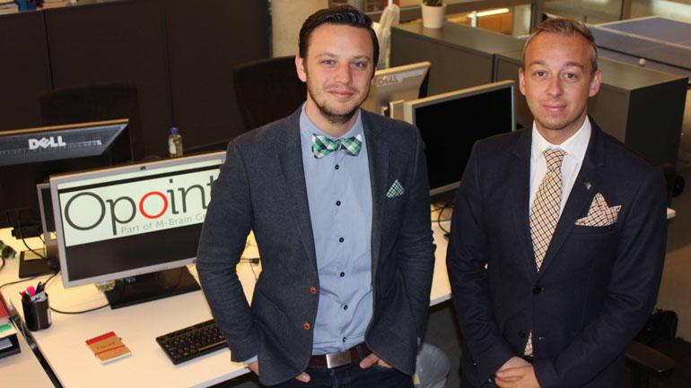Øystein og Daniel i Opoints kontorlokaler.  foto