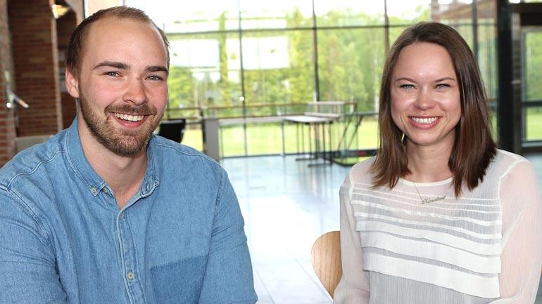 Mats Snørteland og Karoline Hordnes er blant studentene som har har jobbet med prosjekter og avhandlinger gjennom NØKS II.