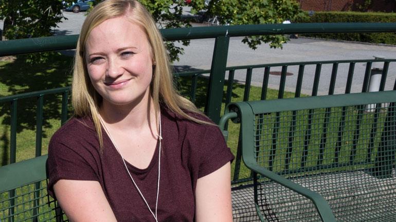 Marianne er nye student på HSN denne høsten. Foto