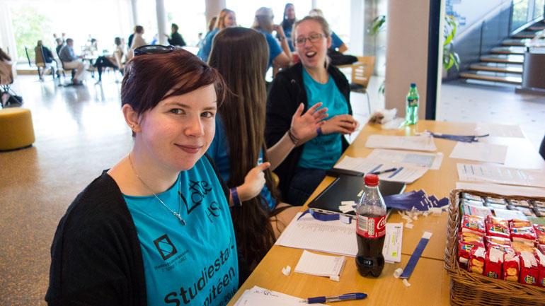Leder av studiestart-komiteen til studentene, Lotte Solvang. Foto