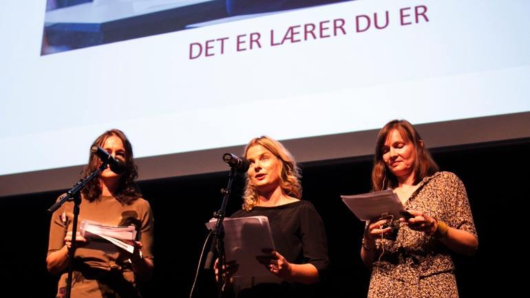 Jannike Ohrem Bakke,  Fride Lindstøl og Mette Moe. Foto