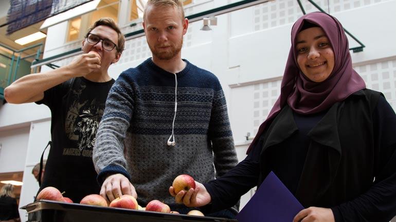 Erlend Christoffer Larsen, Martin Berger og Leyla Sakar. Foto