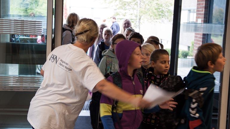Barn på campus Notodden. Foto