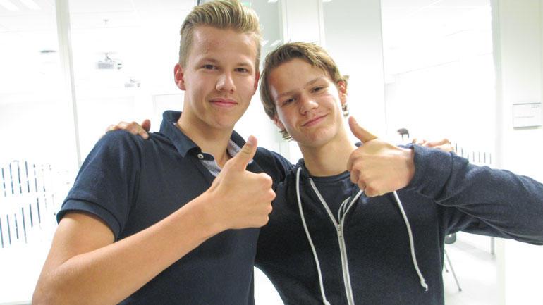 Nikolai og Oddmund  - elever fra Kongsberg vgs