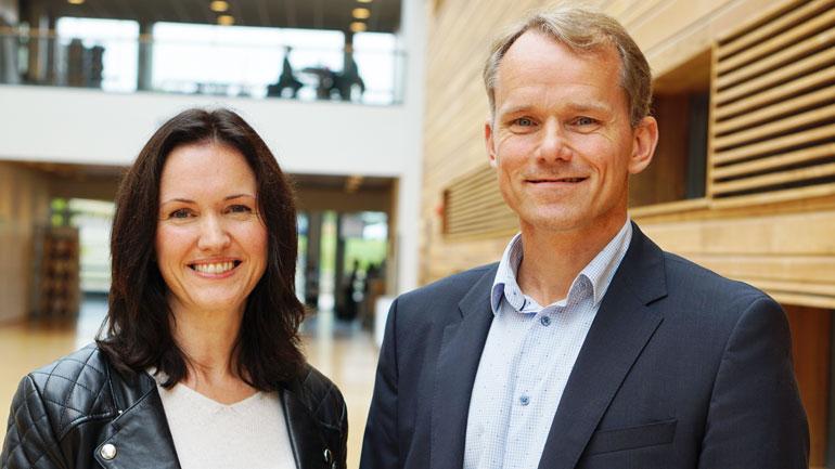 Ann-Kristin Berge og Frode Wegger står bak studien.  Foto