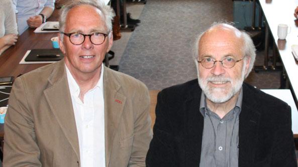 F.v: Styreleder Rune Nilsen og rektor Petter Aasen. Foto: Ragne Brekke Hvidsten