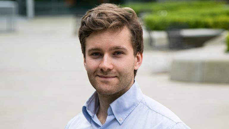 Doktorgradsstipendiat ved HSN, Jørgen Ernstsen. Foto