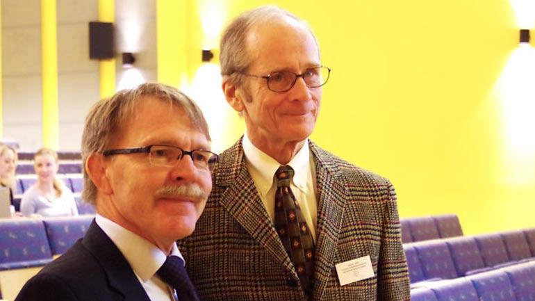 Hallgeir Halvari og Edward Deci. Foto