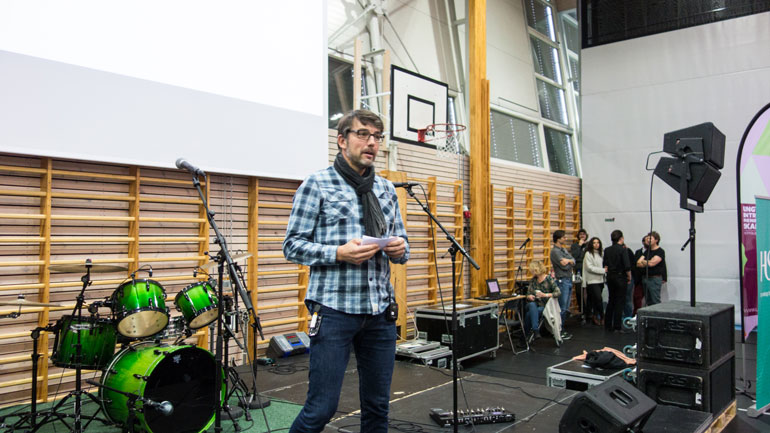 Prosjektleder Stig Wahlstrøm ønsket velkommen.  Foto