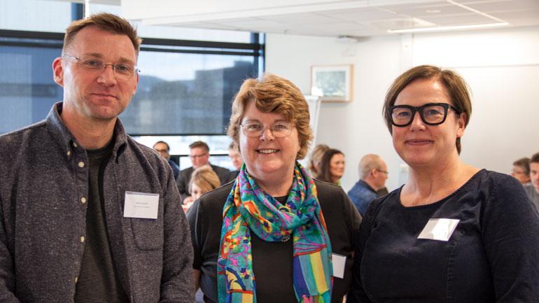 Rob Bongaardt, Anne Lee og Rigmor Baraas. Foto