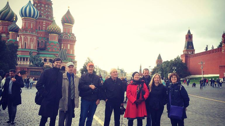 Group photo at Red Square Moscow.