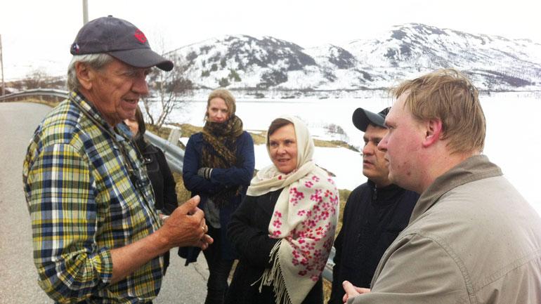 Meeting locals in Telemark. Photo