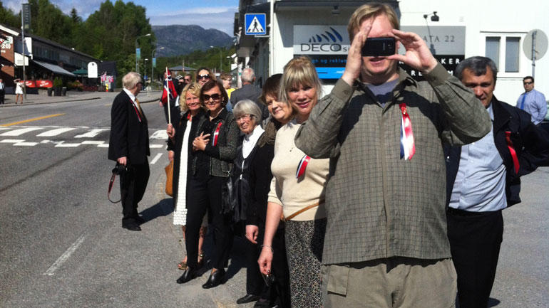 Celebrating 17th May in Bø. Photo