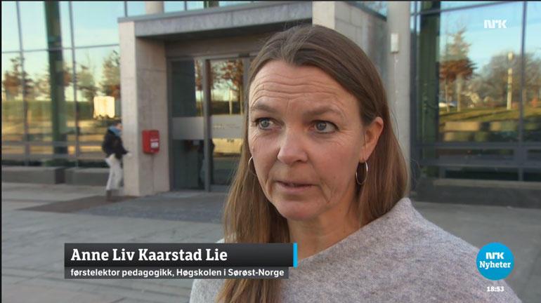 Anne Liv Kaarstad Lie - skjermdump NRK
