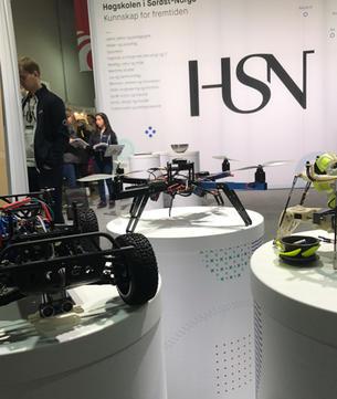 Teknologi på HSNs stand på Lillestrøm