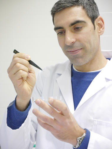 Dr. Luis André L. Fernandes has a background within biosensors.  Photo