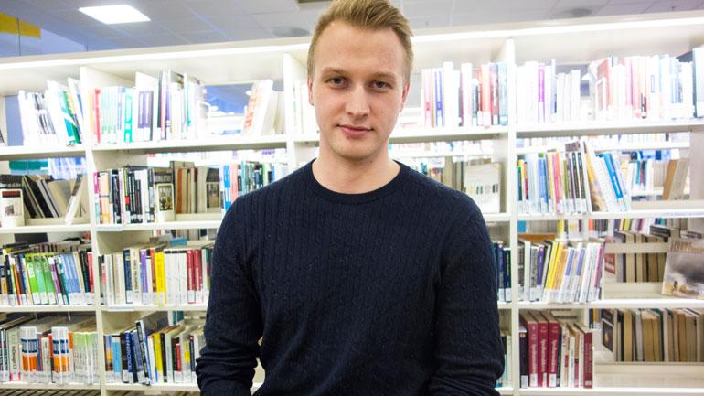 - Jeg har blant annet lært en helt ny måte å styre prosjekter på, sier siviløkonom-student Philip.  Foto