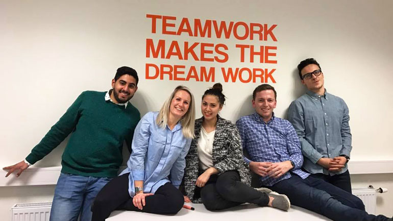 Entreprenørskapsstudenter - gruppebilde