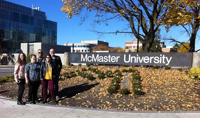Students and Faculty at McMaster University. Photo