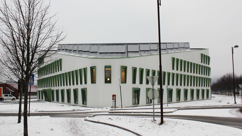 Delta buliding at campus Porsgrunn. Photo.