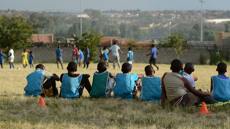 The places of football in Soweto, South Africa. Photo.