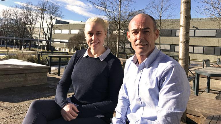 Robert Immerstein og Anette Hansen.  Foto