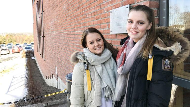 Malin og Martine blir jurister med master i Aarhus og bachelor fra HSN. Foto