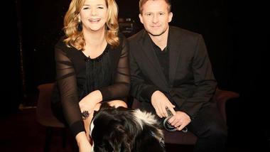 Frank Rosell og hunden Tapas er gjester hos Anne Lindmo på NRK. Foto