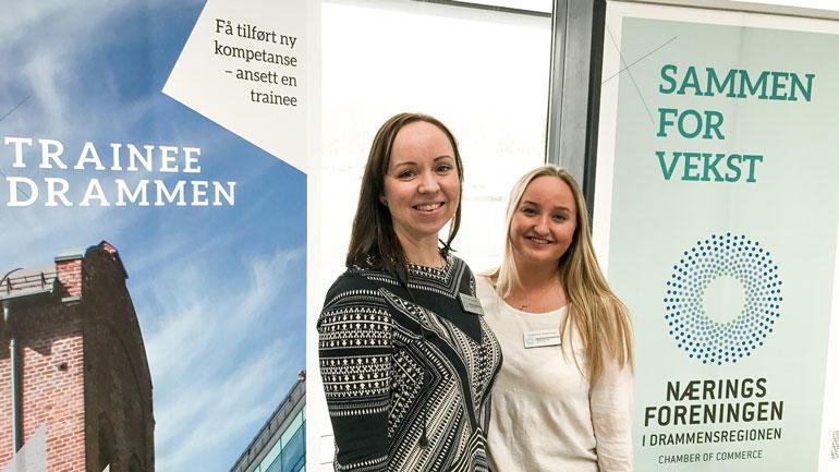 F.v: Beate M. Ryttersveen Sand og Anniken Aa. Thommessen fra Næringsforeningen i Drammensegionen.  Foto