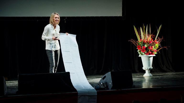 Pia Cecilie Bing-Jonsson i aksjon under Forsker grand prix i 2013. Foto