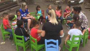 Studenter i praksis-situasjon i Nicaragua. Foto